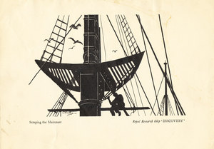 Image of Scraping the Mainmast of Discovery K 22.9