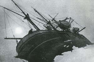 Image of Endurance forced out of the floe by heavy pressure ROY.30.1.62