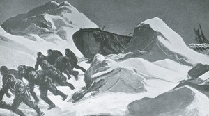 Image of The first attempt to reach land ROY.30.2.1
