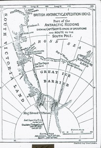 Image of Map showing the route to the pole ROY.30.2.26