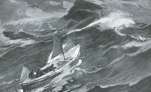 Image of The James Caird nears South Georgia ROY.30.2.4