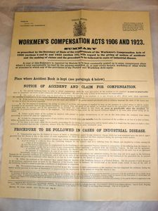 Image of Workmen's Compensation Acts 1906 & 1923 DUNIH 335