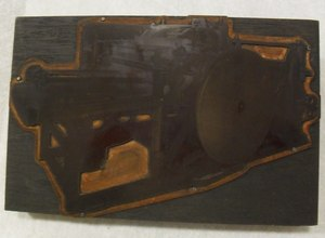 Image of Photogravure printing block of unidenitified machine DUNIH 284.120