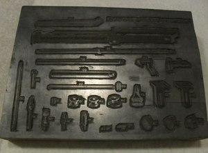Image of Intaglio printing block of numbered machine parts DUNIH 284.123