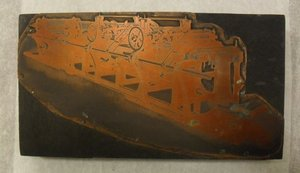 Image of Photogravure printing block of coloured printing and cutting machine DUNIH 284.125