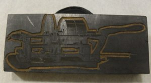 Image of Relief printing block of unidentified machine DUNIH 284.126