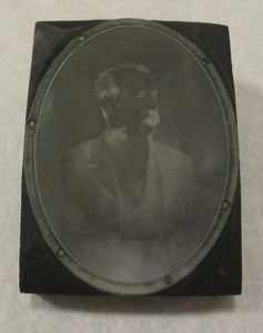 Image of Photogravure printing block of unidentified man DUNIH 284.127