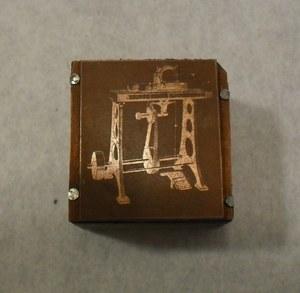 Image of Small photogravure printing block of unidentified machine DUNIH 284.134