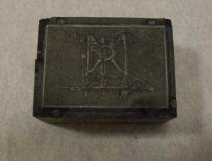 Image of Small photogravure printing block of unidentified machine DUNIH 284.135