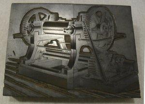 Image of Photogravure printing block of unidentified machine DUNIH 284.136