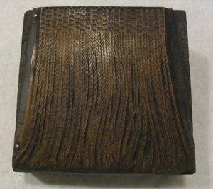 Image of Photogravure printing block of fringe DUNIH 284.137