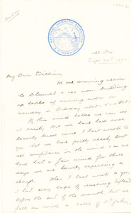 Image of Letter from William Colbeck to Edith Robinson DUNIH 1.006