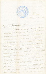 Image of Letter from William Colbeck to Edith Robinson DUNIH 1.012