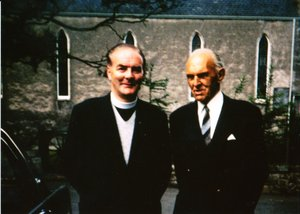Image of Photograph of Reverend Charles Miller and Tryggve Gran DUNIH 2014.5.3