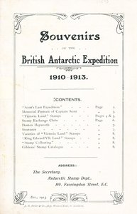 Image of Souvenir Catalogue of Terra Nova Expedition DUNIH 2014.14.4