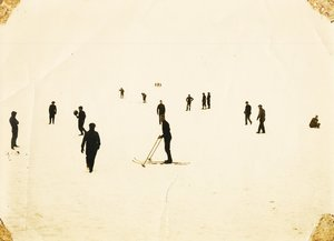 Image of Photographs of men skiing, Discovery II DUNIH 2016.6.5