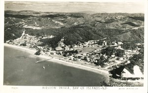 Image of Black and White Postcard of Airview Paihia, Bay of Islands DUNIH 2016.6.13