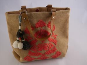 Image of Embellished Jute Handbag DUNIH 2016.35
