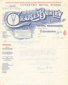 Image of Letter from Charles Burley and Sons Ltd regarding a quote DUNIH 2016.14