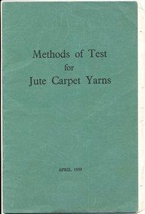 "Image of Booklet, ""Methods of Test/for/Jute Carpets Yarns"" DUNIH 2016.20.3"