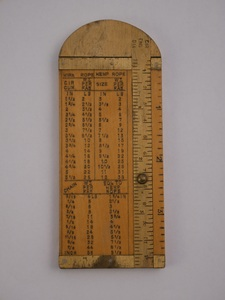 Image of Rope Measures, engraved 'Belfast Ropework Company Limited' DUNIH 2015.2.2