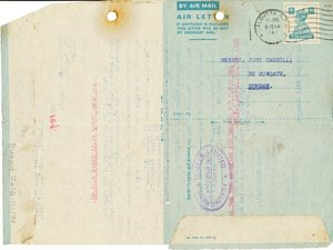 Image of Letter from Hukumchand Jute Mills Ltd. to J. Cargill, 9th January 1947 DUNIH 2016.11.121