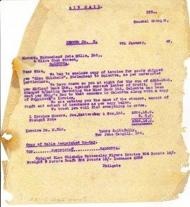 Image of Letter from J. Cargill Ltd. to Hukumchand Jute Mills Ltd., 9th January 1947 DUNIH 2016.11.122