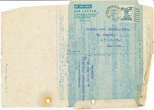 Image of Letter from Hukumchand Jute Mills Ltd. to J. Cargill Ltd., 17th March 1947 DUNIH 2016.11.125