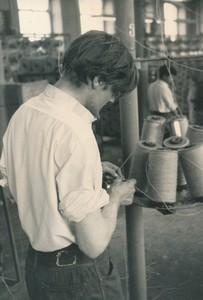 Image of Photograph of linking bobbins at Bowbridge Works, 1967 DUNIH 2017.13.3
