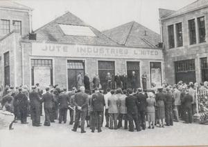 Image of Framed photograph of Manhattan Works Opening, June 1951 DUNIH 2017.16.1