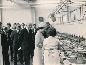 Image of Photograph of the Queen walking talking to a winder, May 1969 DUNIH 2017.16.2.17