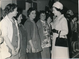 Image of Photograph of the Queen talking to some of the Douglasfield Workers, May 1969 DUNIH 2017.16.2.21