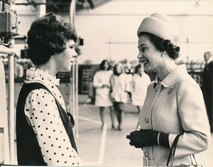 Image of Photograph of the Queen meeting youngest winder, May 1969 DUNIH 2017.16.2.24