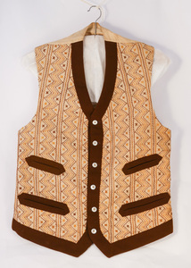 Image of Embroidered jute waistcoat DUNIH 2017.32