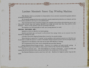 Image of Lambert Monifieth Cop Winding Machine DUNIH 2018.2.7