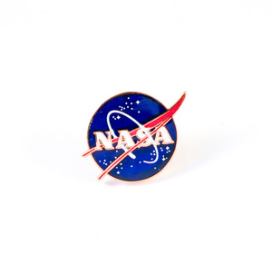 Image of Colour enamel lapel badge, NASA DUNIH 2018.7.7