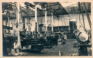 Image of Photograph of the Machine Shop Section in Angus Mill, Calcutta DUNIH 2018.16.2.5