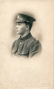 Image of Postcard of William Kennedy in WW1 uniform DUNIH 2018.16.3.1