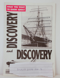Image of Leaflet comparing RRS Discovery and the Space Shuttle Discovery DUNIH 2018.20.3