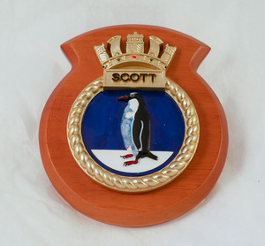 Image of Plaque from HMS Scott DUNIH 2018.26