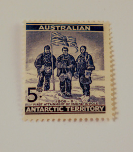 Image of Australian Antarctic Territory stamps- First attainment of magnetic pole DUNIH 2018.27.1
