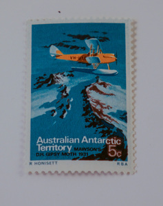 Image of Australian Antarctic Territory stamps- Gypsy Moth DUNIH 2018.27.7