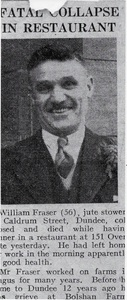 Image of Obituary of William Fraser DUNIH 2018.28.8