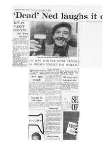 Image of Newspaper cutting relating to Jute Stower- 'Big' Ned O'Fee DUNIH 2018.28.28
