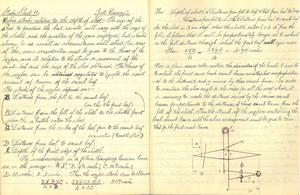 Image of Notebook containing notes referring to Jute Weaving DUNIH 2018.31